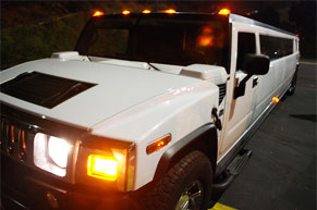 white hummer limo rental